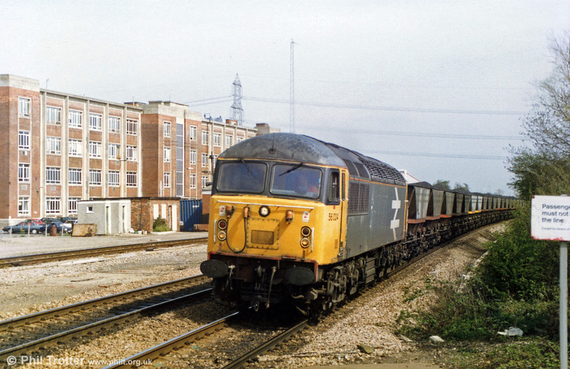Class 56 no. 56024 heads an mgr coal train during the 1980s. This loco was cut up at Booth's, Rotherham in October 1996.