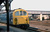 My only (poor!) photo of a class 74 electro-diesel in service. This unidentified member of the ten-strong class was taken at Eastleigh on 29th August, 1975. None of the class survive.