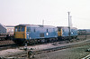 73113 and a sister stabled at Eastleigh Yard on 29th August 1975.