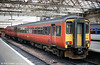 156508 in Strathclyde Transport orange livery at Glasgow Central on 4th September 1990.