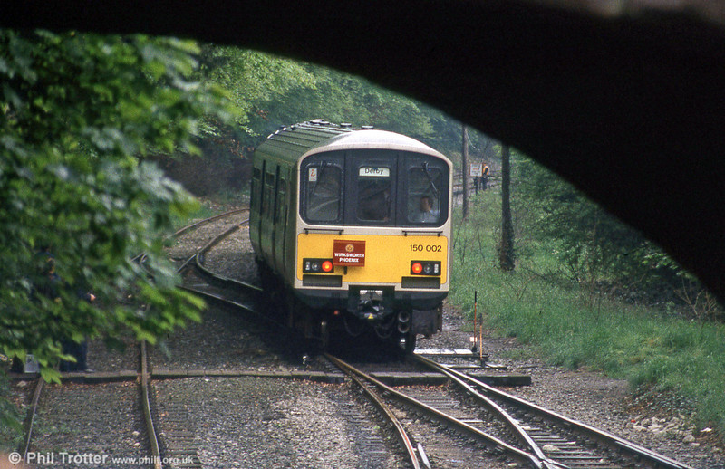 150002 is seen at Wirksworth with 'The Wirksworth Phoenix' on 25th May 1985.