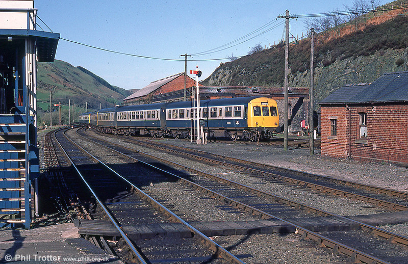 A class 101 on shed at Machynlleth in May 1985.