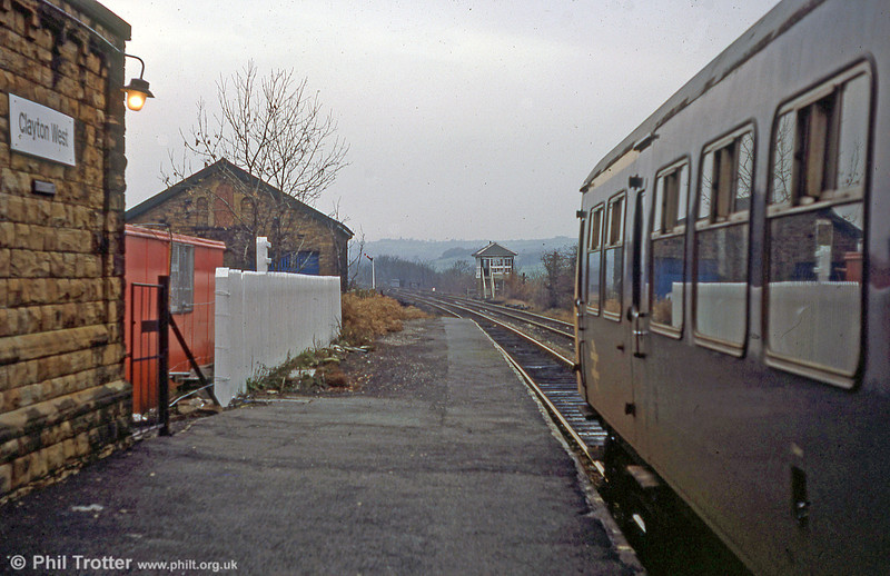 Class 101 awaiting departure from Clayton West on 17th November 1979.