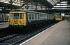 In 1984 several Class 303s were transferred to Manchester to replace the Class 506s previously used on the lines to Hadfield and Glossop. Former Glasgow suburban class 303 unit 303036 is seen at Manchester Piccadilly shortly before withdrawal in the mid 1990s.