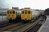 Three Merseyrail class 503 units at West Kirby on 22nd November 1980.