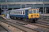 310049 leaves London Euston in May 1985. These were introduced in 1966 as part of the West Coast Main Line electrification project.