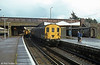 Southern Region Hampshire demu 1124 at Southampton forming a Portsmouth & Southsea to Salisbury stopping service.
