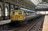 Class 304 emu 304008 at Manchester Piccadilly. The 304s were built from 1960 for suburban use on the first phase of the West Coast Main Line electrification between Crewe and Manchester, Liverpool and Rugby. 304008 is seen in original four car formation.