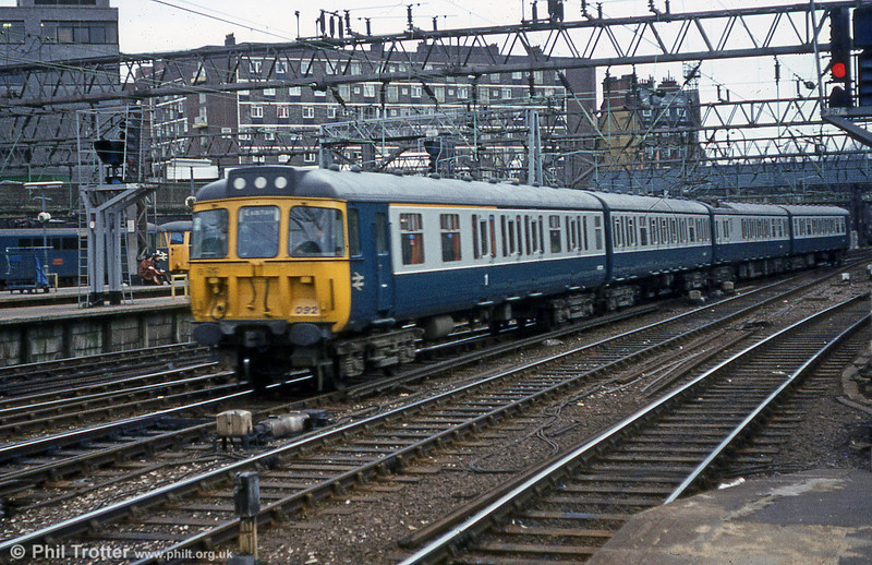 Class 310 no. 310092 arriving at London Euston on 7th February 1981.