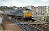 A class 47 heads a failed 'peak' on a northbound cross country service at Dawlish. Loco unknown.