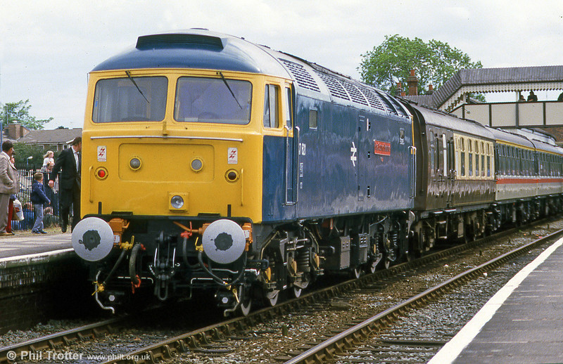 47621 'Royal County of Berkshire' with an excursion at Stratford-upon-Avon in July 1985.