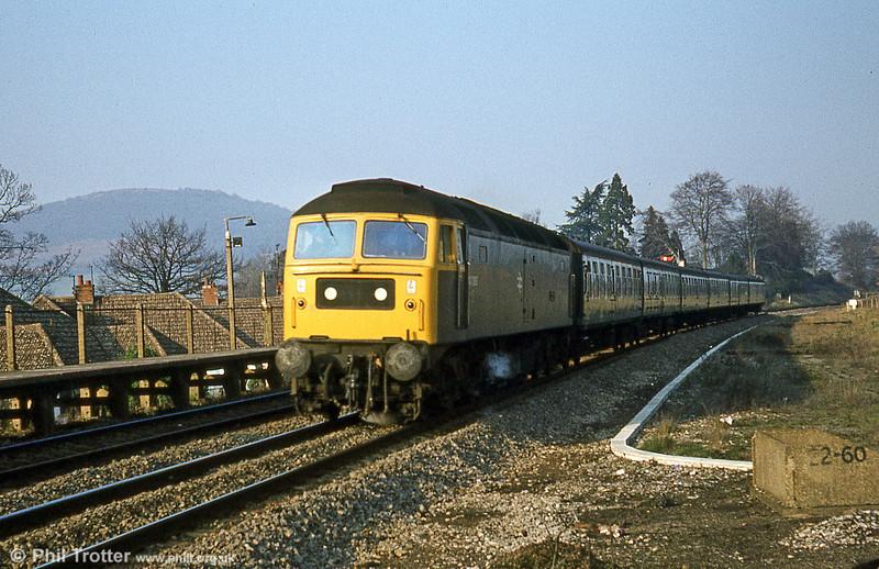 47080 'Titan' approaches Abergavenny on 14th February 1981,
