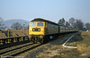47080 'Titan' approaches Abergavenny on 14th February 1981,