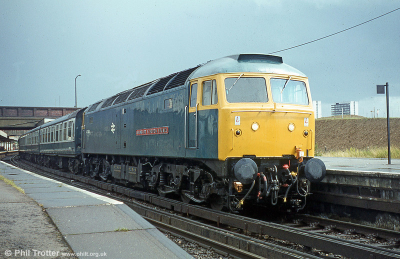 47484 'Isambard Kingdom Brunel', formerly D1662 and one of the one-time WR allocation of named class 47s, at Southampton.