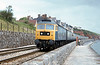 Yet another shot of a class 47 on the sea wall, approaching Dawlish Station. Loco unknown.