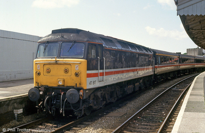 47817 in Inter City livery at Swansea in July 1993.