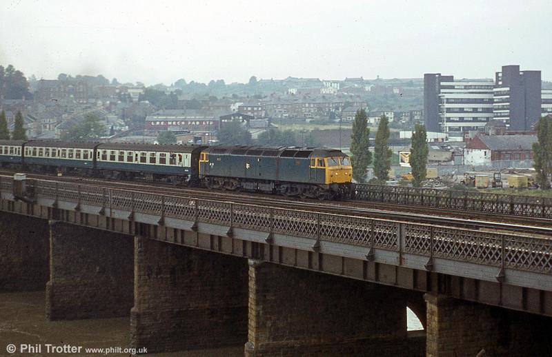 A class 47 crosses the River Usk at Newport.