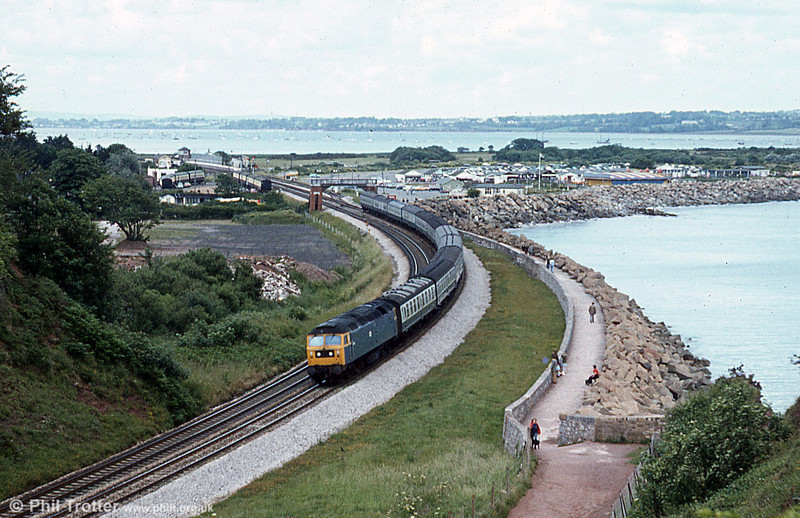 Another class 47 passing Langstone Rock, Dawlish Warren. Loco unknown.