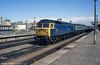 47532 heads an ecs train through Cardiff Central on 25th August 1987.