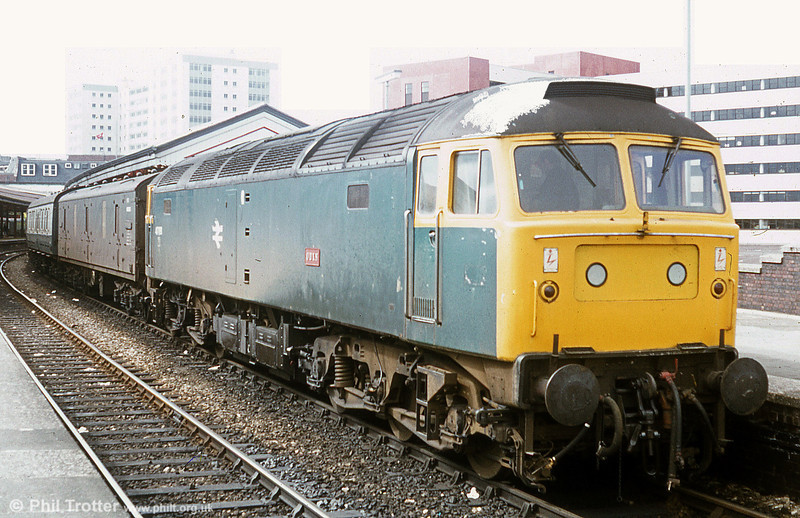 47081 (later 47606) 'Odin' waits to leave Swansea on the parcels.