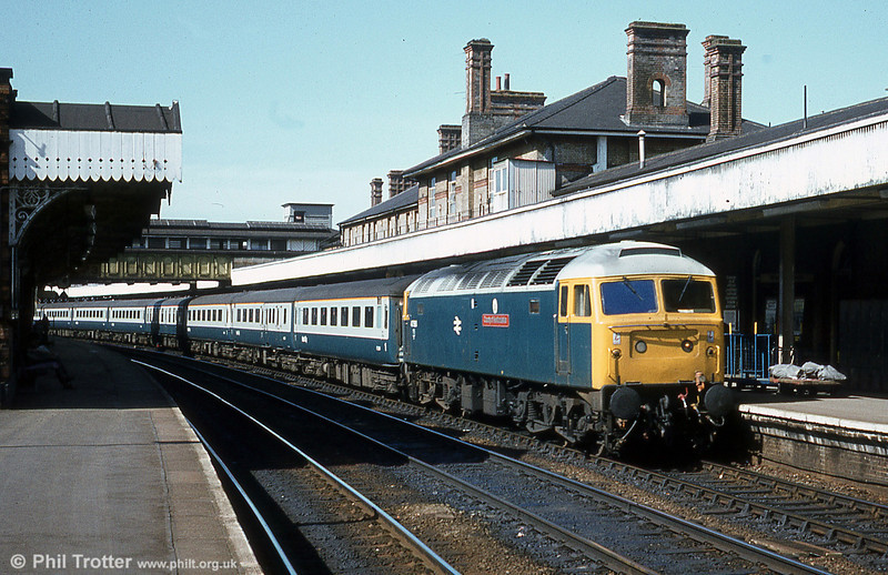 47583 'County of Hertfordshire' calls at Ipswich on 28th March, 1981.