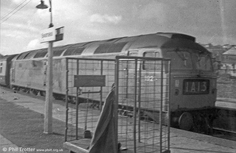 An early (failed!) attempt to be artistic. D1921 at Swansea in the early 1970s.