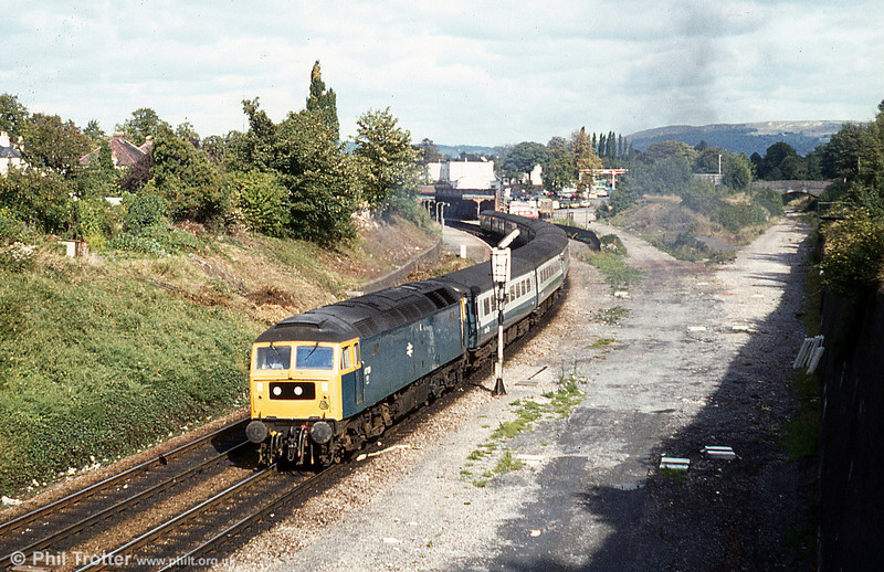 47131 leaves Cheltenham with a train for the South West on 4th October 1980.