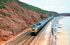 Another classic view on the sea wall at Dawlish. Loco unknown.