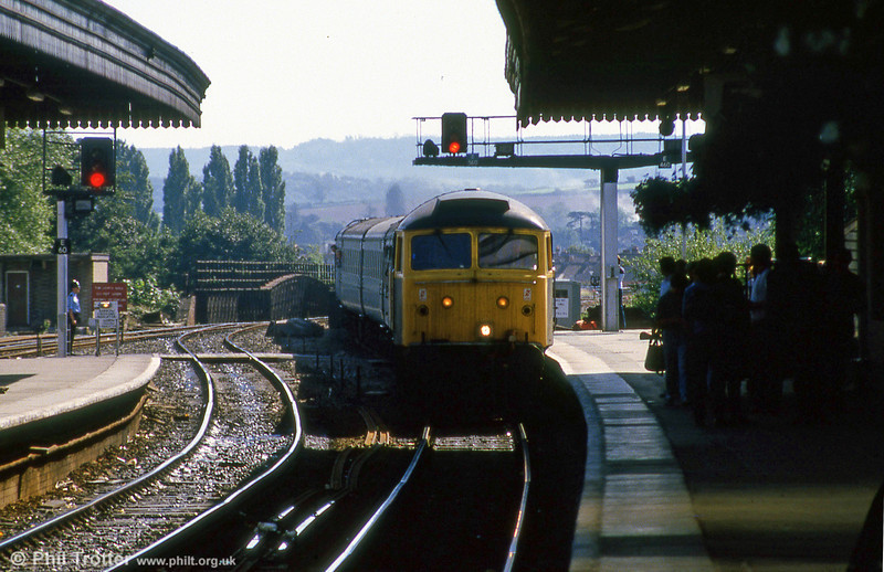 Exeter St. Davids, September 1985. Loco unknown.
