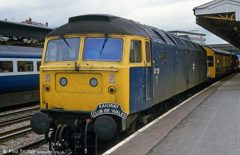 47129 on display at Newport Rail Fair in 1985.