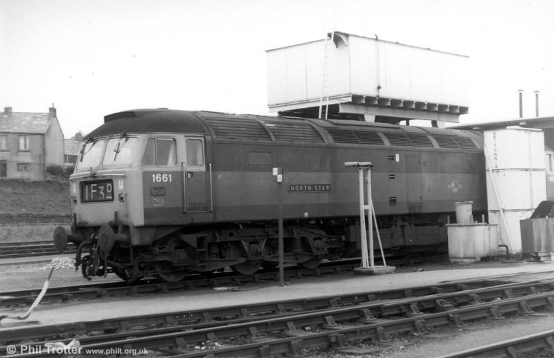 (D)1661 'North Star' photographed at Landore in 1970. This loco has been preserved at the West Somerset Railway.