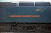 Nameplate of 47484 'Isambard Kingdom Brunel'. New in February 1965, the locomotive was allocated from new to Landore.