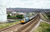 A clean class 47 heads past Narroways Hill Junction on Filton Bank, Bristol. Loco unknown.