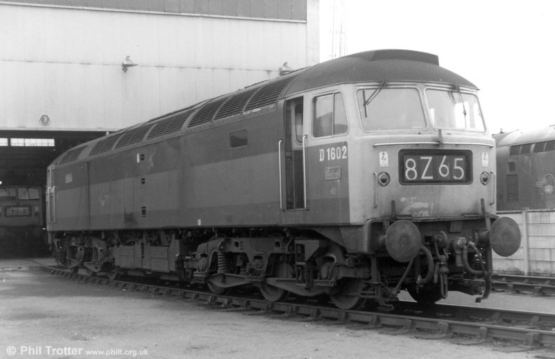 D1602 - later to become 47474 - photographed at Landore Diesel Depot, where it had been allocated from new, in 1970.