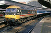Scotrail 47637 'Springburn' with Network Southeast stock at London Paddington in July 1988.
