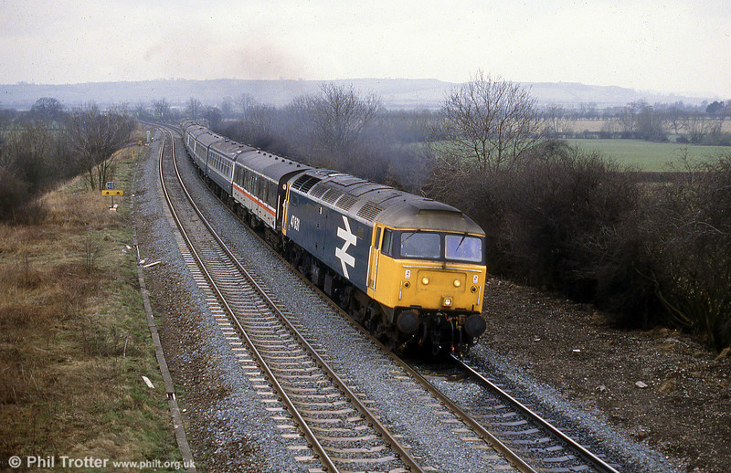 47631 in large logo livery. Later renumbered 47765, the loco survives in preservation.