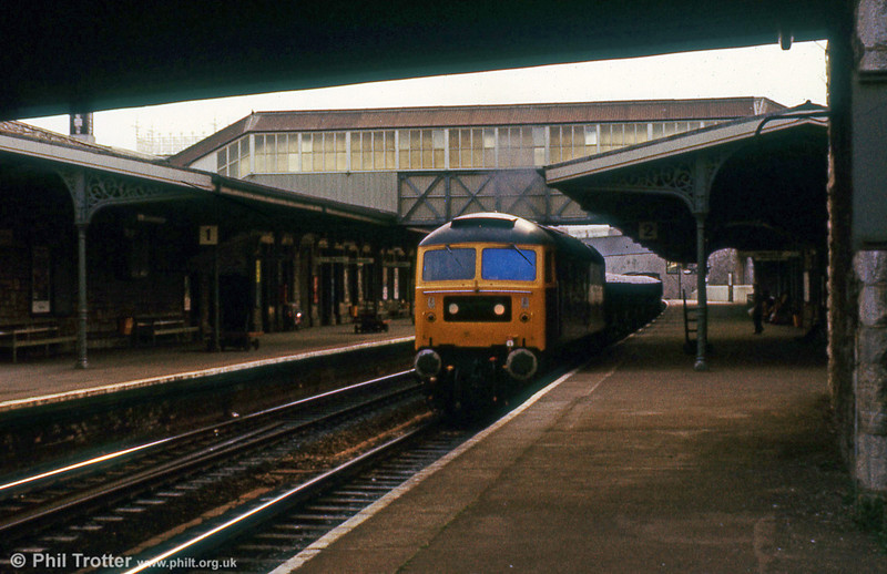 47555 'The Commonwealth Spirit' on clay hoods at Teignmouth on 24th August 1979.