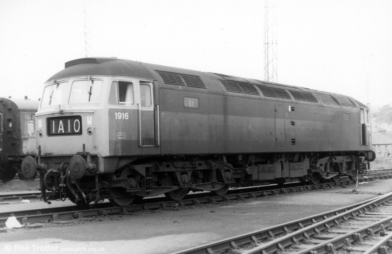 1916 - the 'D' prefix having been removed after the end of steam in 1968 - rests at Landore in 1970. This was later to become 47812 and is still in service.