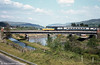 HST for Swansea crossing the River Neath and Neath Canal.