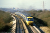 A Swansea to London Paddington service climbs Stormy Bank in February 1986.