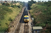 A down HST (253020) exits the Severn Tunnel on 21st August 1980.