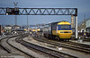 A busy scene at Cardiff Central on 25th May 1984. 43035 heads the 0805 Swansea to London Paddington; 43034 was at the rear