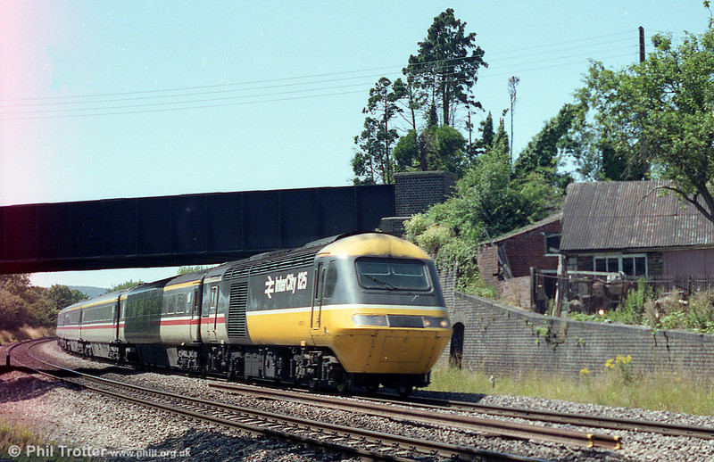 An unidentified InterCity 125 set passes through Peterston-super-Ely with a Swansea to London Paddington service.
