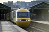A remarkably clean class 253 set in original livery at Swansea.