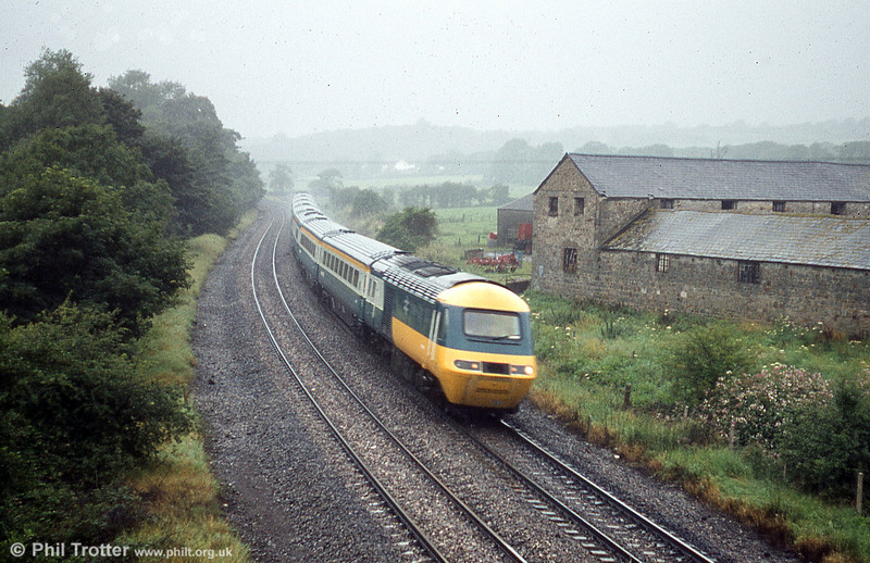 The derelict farm at Llangewydd is a familiar location for photographers. The buildings were in reasonable order in 1980, as this view taken on 11th August illustrates.