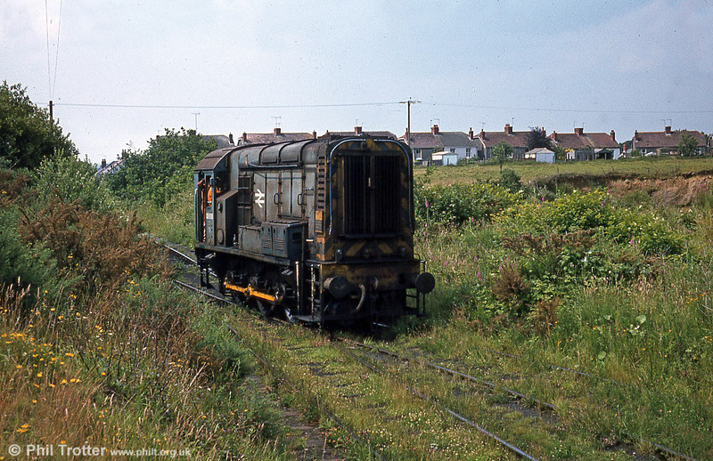 Out to grass; 08818 at Graig Merthyr Colliery for waste clearance in July 1980 after the colliery had closed. 08818 still exists with Harry Needle at Barrow Hill.