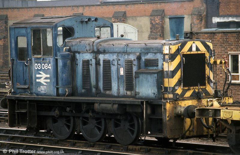 A somewhat washed out looking 03084 at Norwich on 28th March 1981. The loco lives on in preservation.
