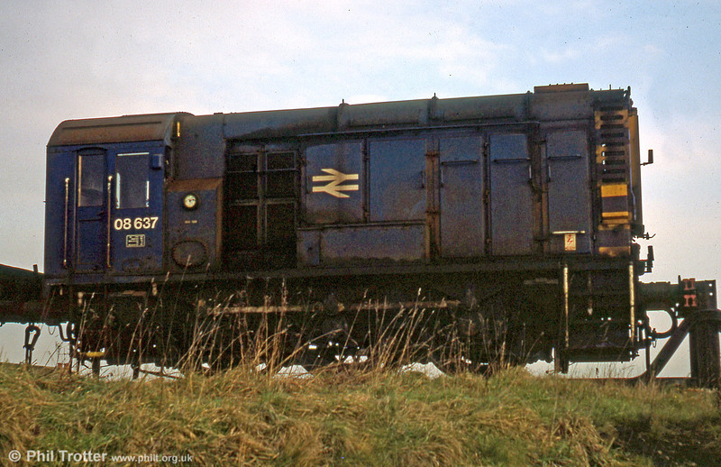 08637 at Landore TMD on 22nd December 1979. It was scrapped by MC Metals, Glasgow in 1993.