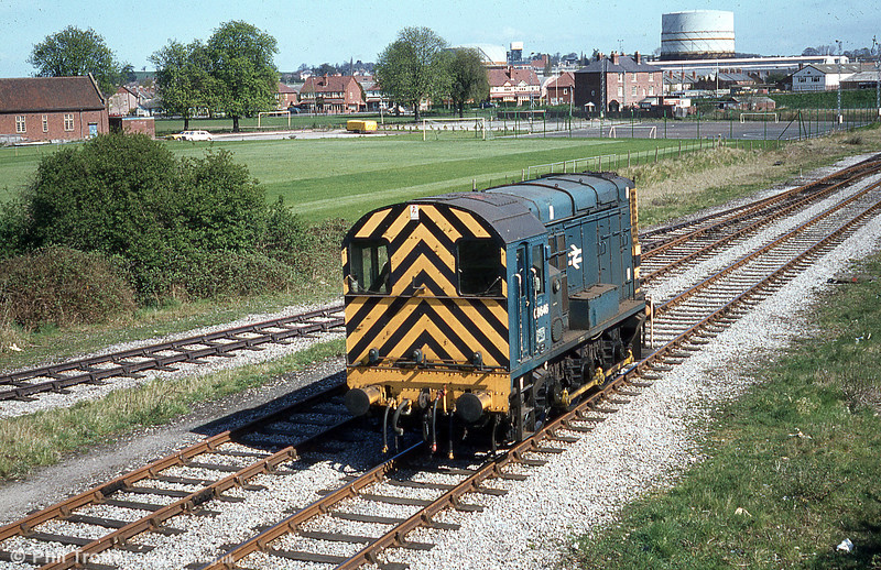 08646 near Moorfields, Hereford on a bright and sunny 19th April 1980. The loco remains in service with EWS.