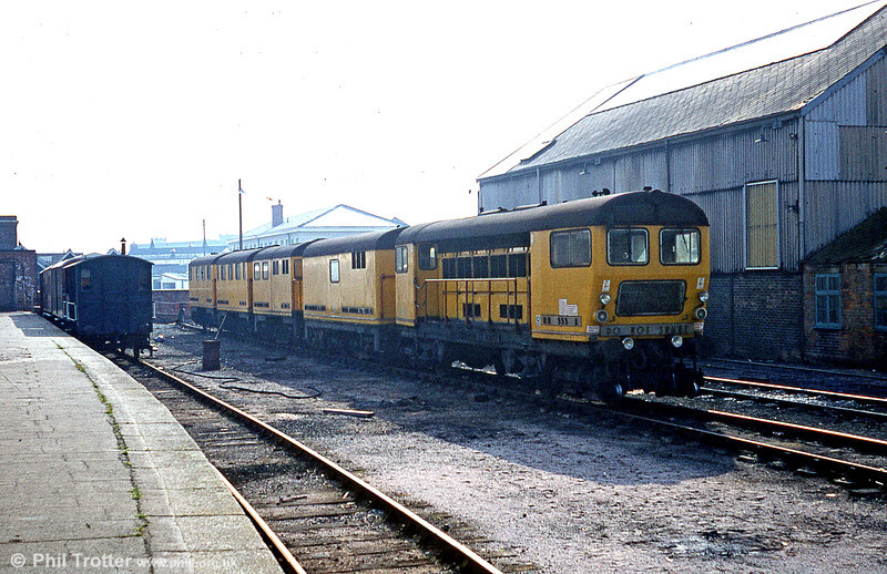 The other end of the Speno Rail Grinding Train at Taunton c.1979/1980.